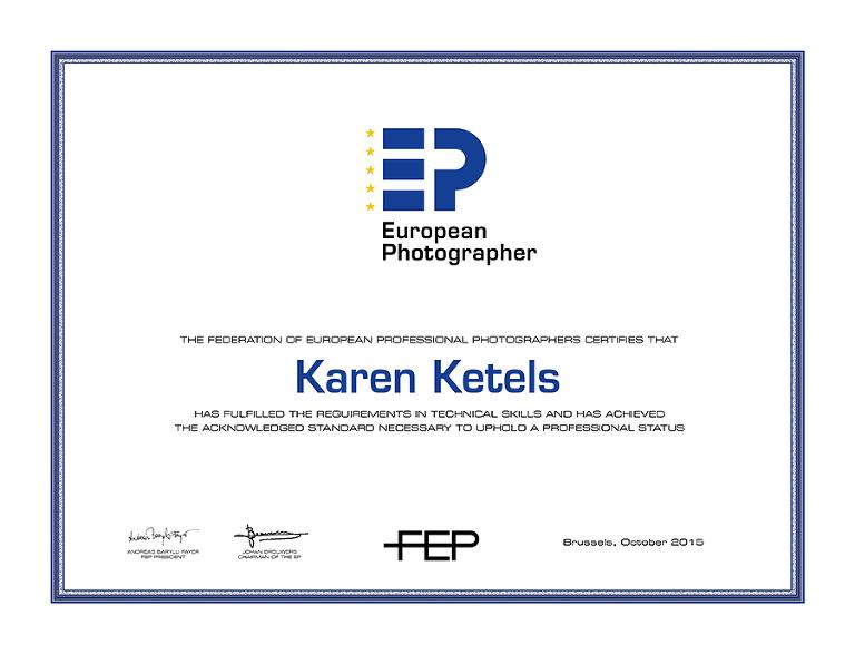 EP certificaat Karen Ketels - EP certificat Karen Ketels