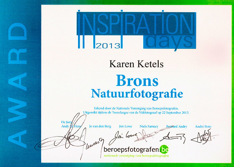 Karen Ketels bronze award nature photography