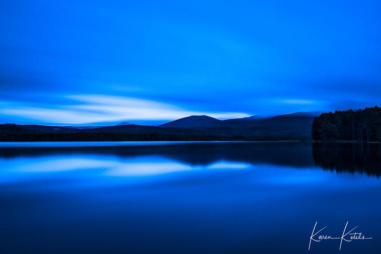 Vanishing light at Loch Garten in Scotland by Karen Ketels